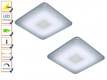 2x LED Deckenleuchte dimmbar mit Fernbedienung Sternhimmel Deckenlampe Flach
