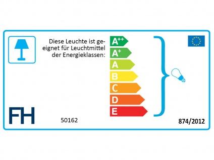 Kleine LED Tischlampe chrom mit Lampenschirm Stoff blau, Nachttischlampe Design - Vorschau 3