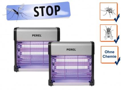 2er Set Insektenvernichter Stechmückenfallen mit UV Licht, Bereich je 30m²