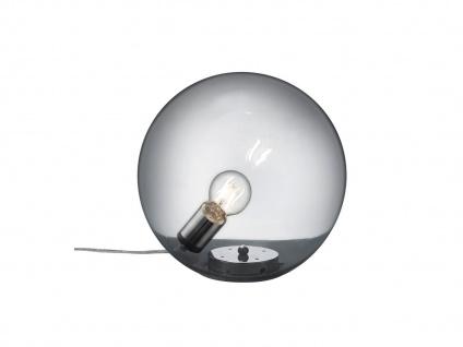 ausgefallene VINTAGE Rauchglaskugel Tischleuchte Nachttischlampen Nachtischlampe