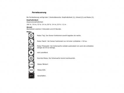 10W LED Strahler Bewegungsmelder und Fernbedienung, IP65, Außenleuchte Fluter - Vorschau 5