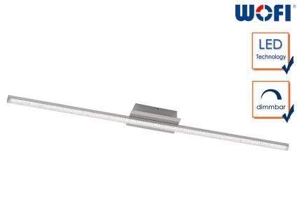 LED Wandleuchte in Nickel matt L. 120cm dimmbar Wohnraumleuchten Wohnzimmer