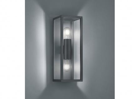 2-flammige eckige Außenwandleuchte Anthrazit E27 - Außenwandlampen für Hauswand