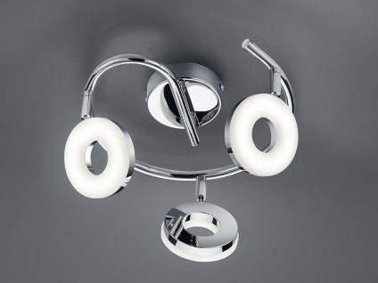 LED Strahler Deckenlampe 3 Spots Rondell schwenkbar für Büro - Wohnraumleuchten