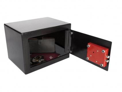 Safe mit Schlüsselschloss & Doppelbartschlüssel, Möbeltresor Wandtresor schwarz