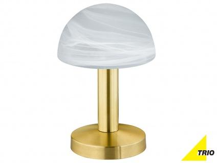 Touch Nachttischlampen Messing mit Glasschirm weiß - dimmbare fürs Schlafzimmer