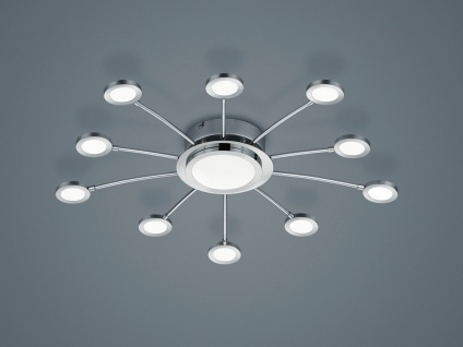 Moderne LED Deckenleuchte mit Fernbedienung dimmbar mehrflammig Wohnzimmerlampen