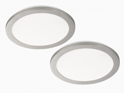 LED Innenleuchten 2er SET fürs Badezimmer, runde IP44 Deckenlampen, dimmbar, matt - Vorschau 2