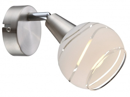 LED Wandleuchte schwenkbar Lampenschirm Glas, Wandlampe Strahler Wohnzimmer Flur