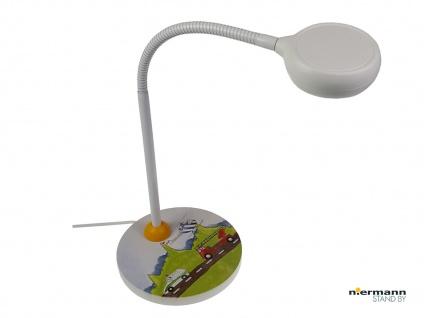 Leseleuchte Schreibtischlampe Kinder AUTOMOBILE Flexrohr Nachttischleuchte NEU