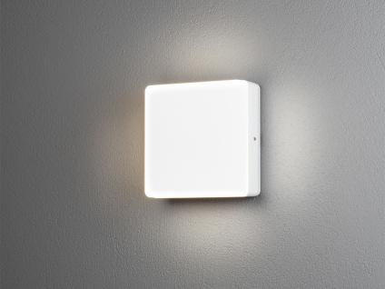 LED Außenwandlampe mit Dämmerungssensor aus ALU Hausbeleuchtung IP54 Flurlicht