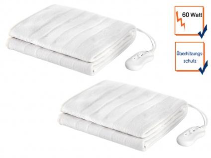 Elektrisches Unterdeckenset für 2 Personen, waschbare Heizdecken, Wärmetherapie