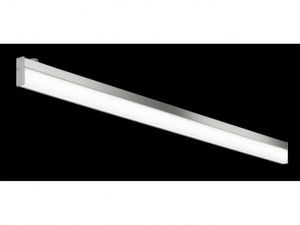 Bad-Wandleuchte, ink. 1 x 12W LED, L.: 120cm, IP44, mit Schalter Chrom - Vorschau 2