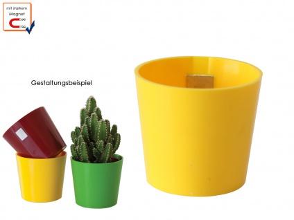 Wandaufbewahrung Deko, Kunststofftopf mit Magnet, Kegel Ø 10cm Gelb, KalaMitica