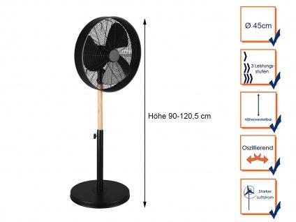 SET Standventilator Höhe 90-120, 5cm Ø45cm + Tischventilator Höhe 57cm Ø45cm - Vorschau 3