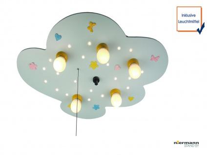 LED Deckenleuchte Babyline hellblau Zugschalter LED-Schlummerlicht WÖLKCHEN
