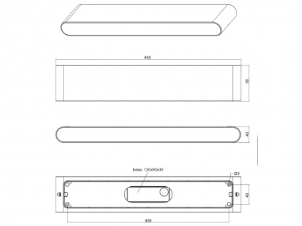 LED Außenwandleuchten SET Up and Down Anthrazit - Außenwandlampen für Hauswand - Vorschau 4