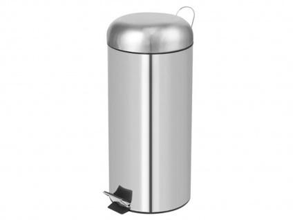 Mülleimer 30 Liter Chrom Treteimer Abfalleimer Abfallsammler Müllsammler - Vorschau 2