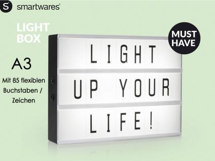 Light-Box Leuchtkasten A3 mit 85 Buchstaben + Symbolen, batteriebetrieben - Vorschau 1