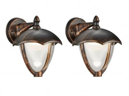 LED Außenwandlampe 2er Set Außenlaterne Rostoptik Terrassenbeleuchtung Landhaus - Vorschau 1
