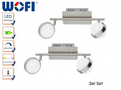 2er Set LED Deckenlampe STER, Fernbedienung, dimmbar, 3000-6500K, Deckenleuchte