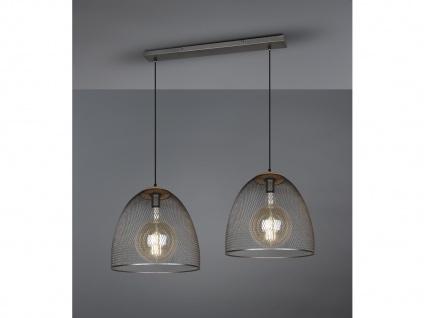 Große LED Balkenpendelleuchte schöne Drahtgeflecht Korblampe für über Esstisch