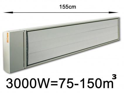 3000W Industrie-Strahlungsheizung f. Räume 75-150m³, pulverbeschichtet