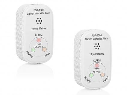Kohlenmonoxidmelderset mit 10 Jahres Batterie, CO Warner Alarmmelder EN 50291