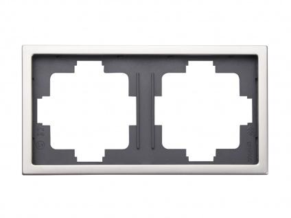 2-fach Rahmen / Blende, Edelstahl beschichtet, für den Innenbereich GAO