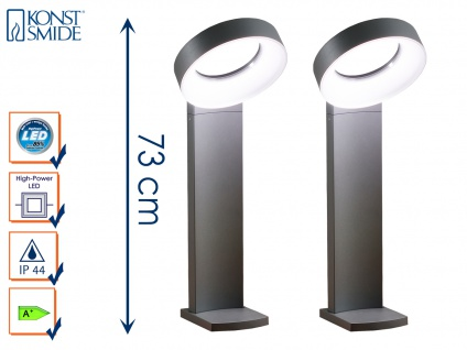 2er-Set Wegeleuchten ASTI, anthrazit, 18W HP-LEDs, 1400 Lumen, 5000K - Vorschau 1