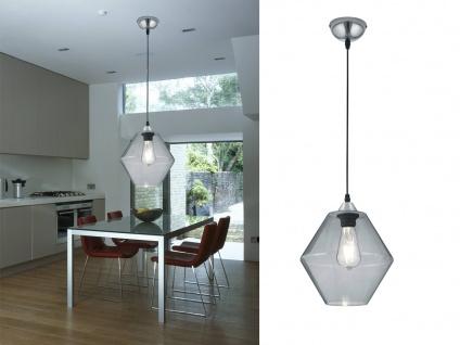 Designer Pendelleuchte 1 flammig Lampenschirm Ø24cm aus Glas in tranparent klar