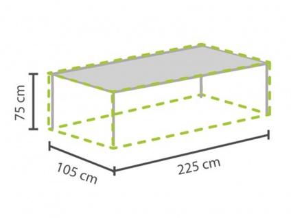 Abdeckung für Gartentische bis 220cm, Abdeckfolie Schutzhülle Plane wasserdicht