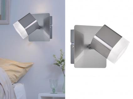 2 keine LED Wandstrahler 1 flammig Silber matt 10x10xcm - Treppenhausbeleuchtung