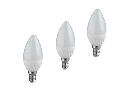 LED Leuchtmittel mit einem E14 Sockel, 3er SET mit je 6W & 470lm, kerzenförmig