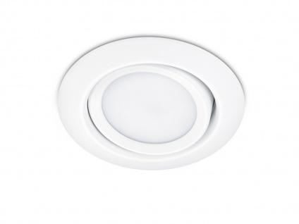 LED Einbaustrahler Decke rund Ø 8, 2cm schwenkbar Weiß matt 5W Deckenbeleuchtung