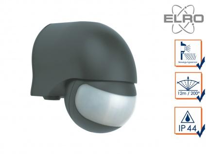 Aufputz Bewegungsmelder schwarz 12m/200° Lux und Zeitintervall einstellbar IP44