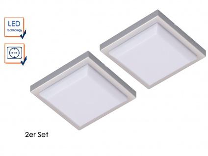 SET: 2 LED-Leuchten quadratisch mit je 1, W extra flach ideal für Vitrinen u.a.