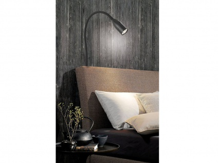 LED Leselampe Schwarz dimmbar Bett Lampe Leuchte fürs Kopfteil Couch Wandmontage - Vorschau 5