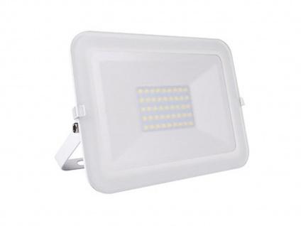 30W LED Strahler weiß, Fluter mit Befestigungsbügel, flaches Design, IP65