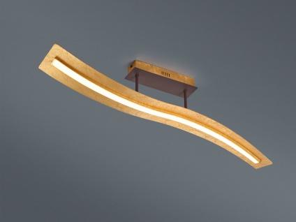 Geschwungene LED Deckenleuchte Design Wellenform Gold mit Switch Dimmer Funktion - Vorschau 1