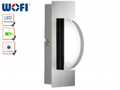 LED-Wandleuchte Chrom / Acrylglas, Schalter, Wofi-Leuchten