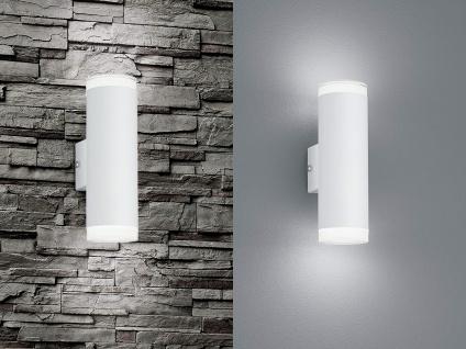 2er SET UP and DOWN LED Fassadenbeleuchtung Außenwandlampe in Weiß für Terrasse