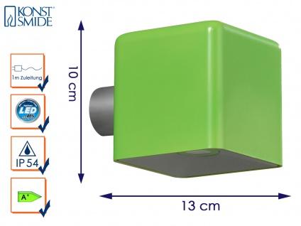 LED Außenwandleuchte AMALFI, grün, Wandleuchte Wandstrahler Wandspot - Vorschau 1