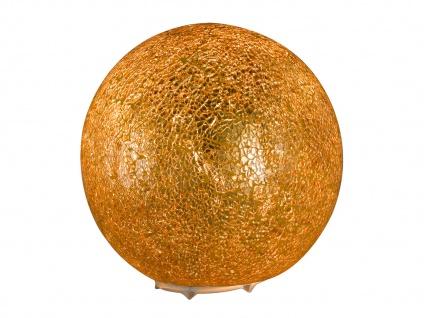 Kugel Tischleuchte Glas Goldfarbig craquele Ø 20cm Wohnraumleuchte Design Lampe - Vorschau 1