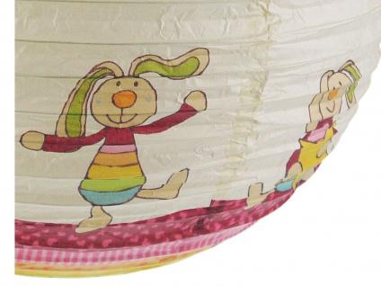 Papier Lampenschirm bunt für Kinderzimmer Rabbit Lampion Kugel Ballon Lampe - Vorschau 3