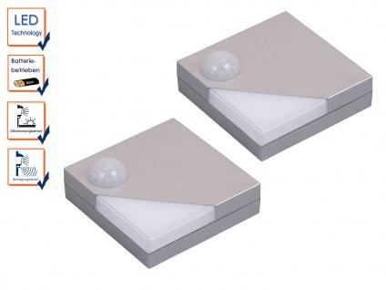 2 Stk. Batteriebetriebene Schrankleuchten LED Bewegungs-/Dämmerungssensor 0, 16W - Vorschau 3
