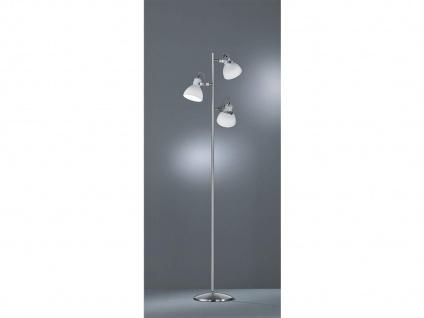 3fl. Standlampe in Nickel matt Glas Lampenschirme drehbar - Wohnraumleuchten - Vorschau 5
