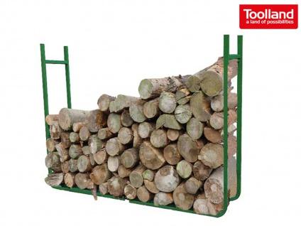Kaminholzregal Metall für Außen B120cm variabel Holzstapelhilfe Holzstapelhalter