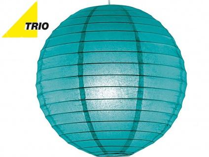 Trio Lampenschirm Japan-Kugel PAPER Papier blau Ø 40cm, Pendelleuchte Lampion