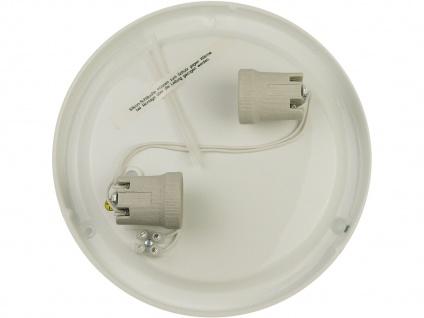 LED Wohnraumleuchte Ø25cm Glas satiniert Klarrand Chrom-Ring LED Kellerleuchte - Vorschau 4